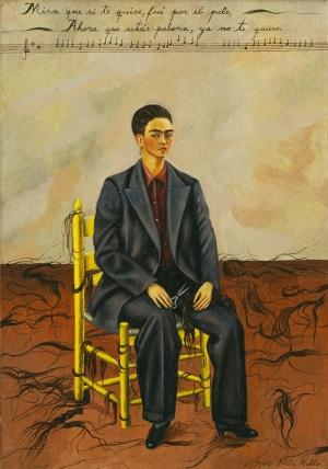 Frida Kahlo Kendi Portresi Soyut Yağlı Boya Klasik Sanat Canvas Tablo