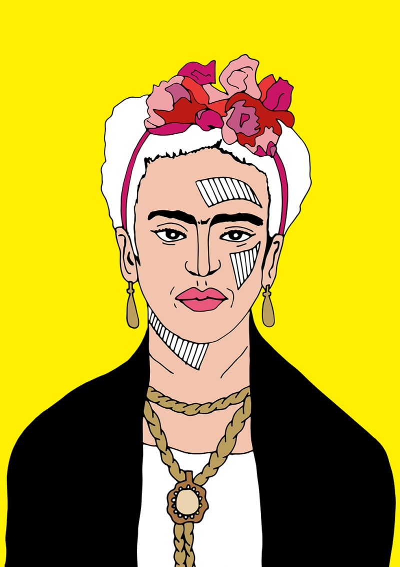 Frida Popüler Kültür Kanvas Tablo