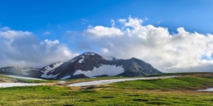 Fuji Apanya Meadow Dağları HD Doğa Manzaraları Kanvas Tablo