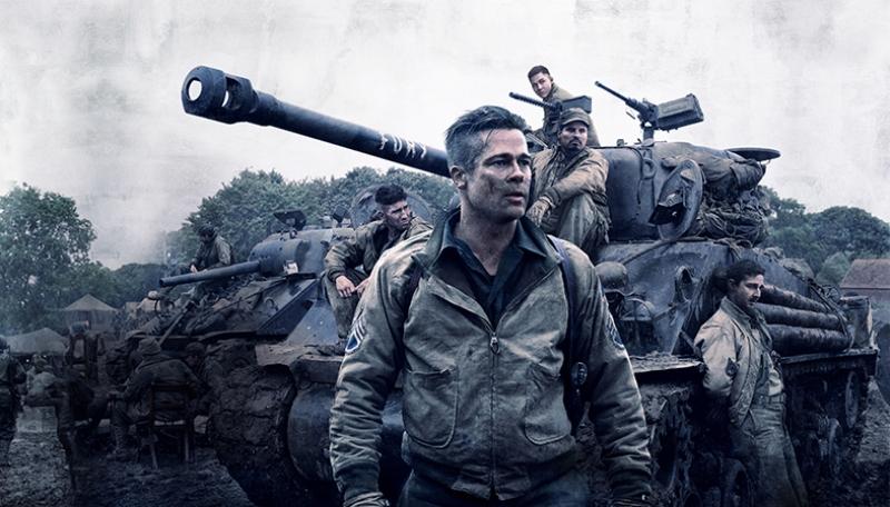 Fury Brad Pitt Afiş Sinema Kanvas Tablo