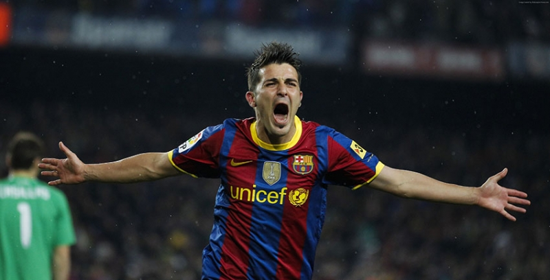 Futbol David Villa Barcelona Spor Kanvas Tablo