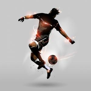 Futbolcu İllustrasyon Spor Kanvas Tablo