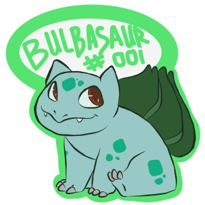 Fuwacat Bulbasaur 7 Pokemon Karakterleri Kanvas Tablo