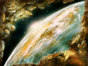 Galaksi Dünya & Uzay Kanvas Tablo
