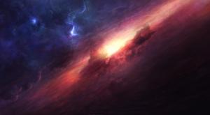 Galaksi Mor Lacivert Kanvas Tablo