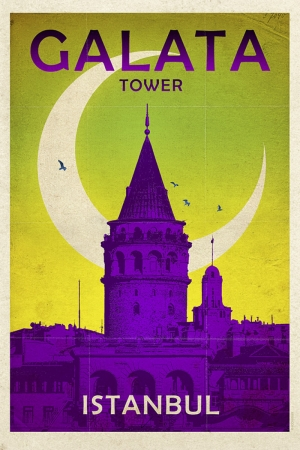 Galata Kulesi Şehirler Kanvas Tablo