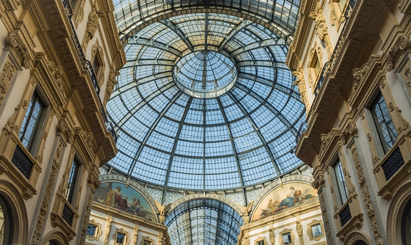 Galleria Vittorio Emanuelle Milano İtalya Dünyaca Ünlü Şehirler Kanvas Tablo