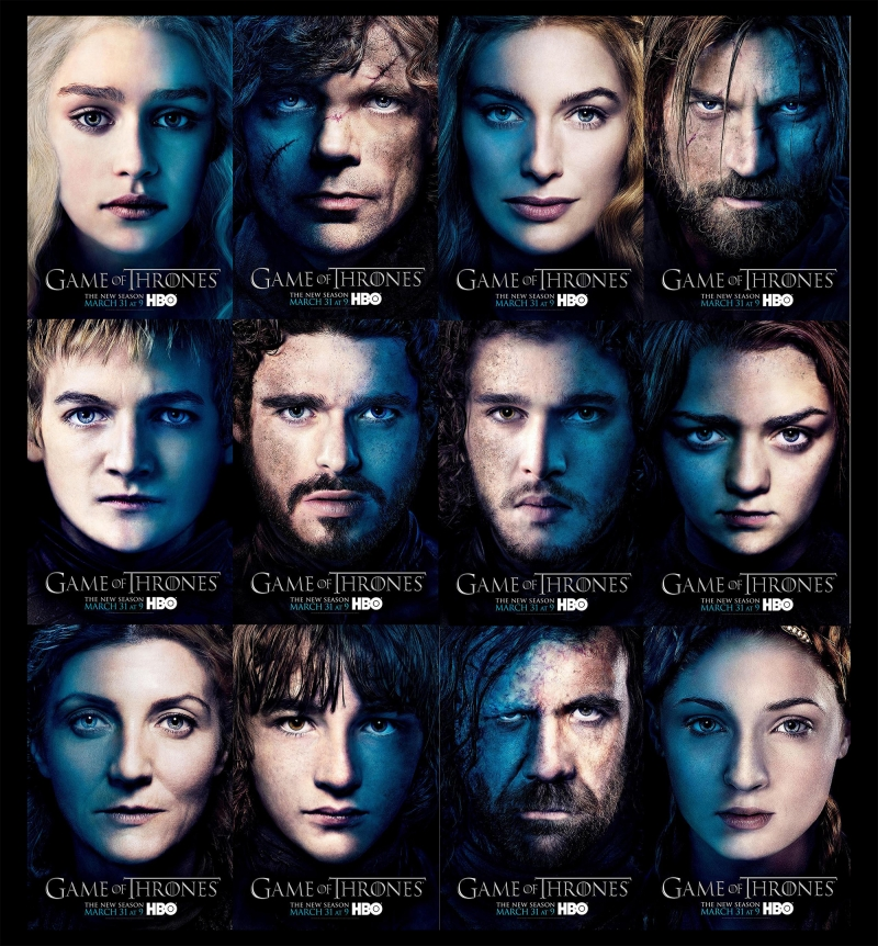 Game of Thrones Karakterleri Kanvas Tablo