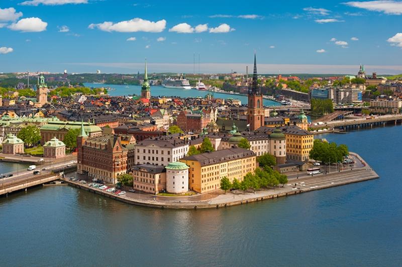 Gamla Stan Stockholm Dünyaca Ünlü Şehirler Kanvas Tablo