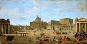 Gaspar Vanvitelli La Piaza San Pietro Roma Yağlı Boya Sanat Kanvas Tablo