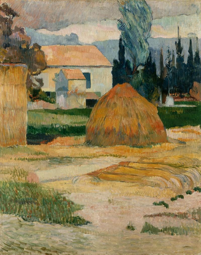 Gauguin Paul Landscape Near Arles Yağlı Boya Sanat Kanvas Tablo