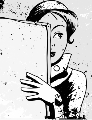Gazeteci Kız Popüler Kültür Kanvas Tablo
