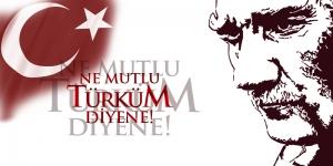 Gazi Mustafa Kemal Atatürk Ne Mutlu Türküm Diyene-41-Kanvas Tablo