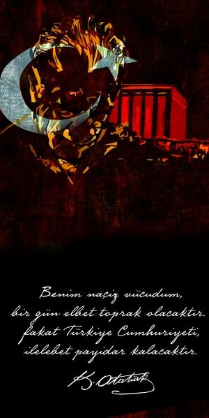 Gazi Mustafa Kemal Atatürk Türkiye Cumhuriyeti-2 Atatürk Kanvas Tablo