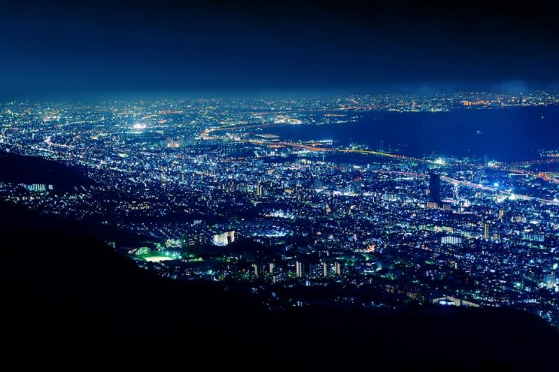 Gece Aydınlatma Dünyaca Ünlü Şehirler Kanvas Tablo