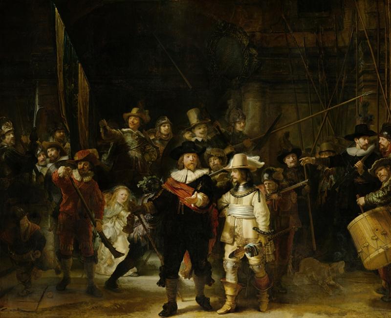 Gece Devriyesi Rembrandt Yağlı Boya Sanat Kanvas Tablo