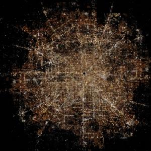 Gece Görüşü Dünyaca Ünlü Şehirler Kanvas Tablo