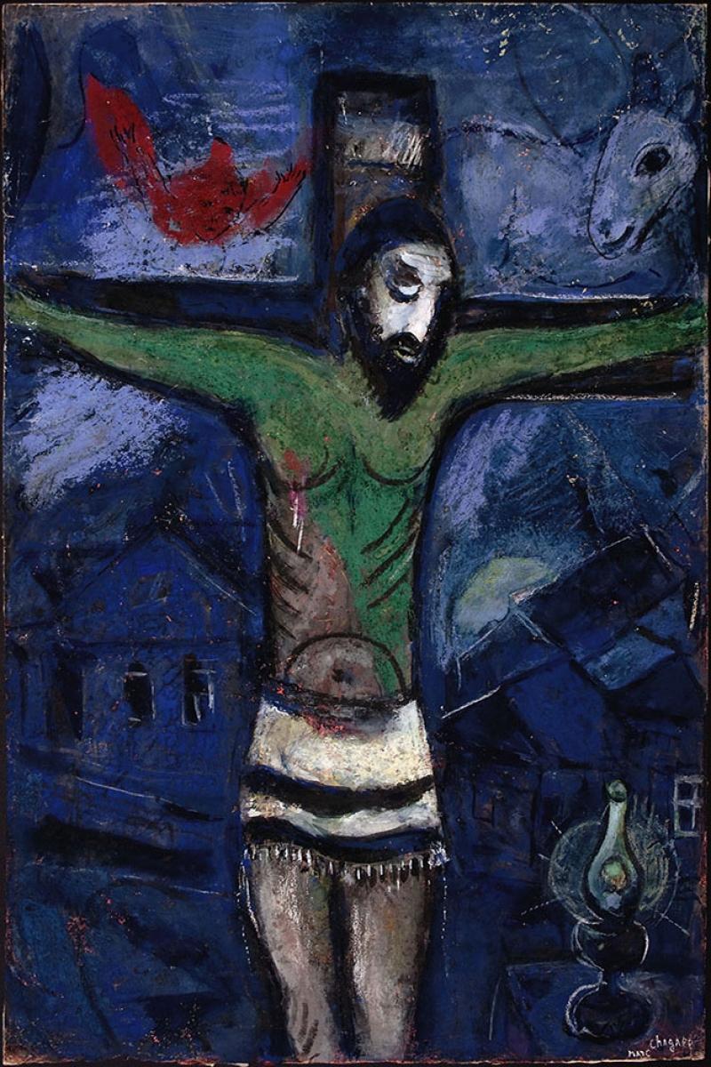 Gece İsa Çarmığa Gerilme Marc Chagall Le Christ Dans La Nuit-1948 Klasik Sanat Kanvas Tablo