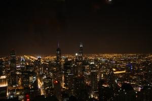 Gece Manzarası Dünyaca Ünlü Şehirler Kanvas Tablo