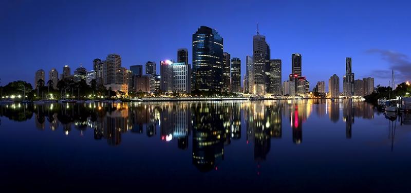 Gece Şehir Manzarası 2 Dünyaca Ünlü Şehirler Kanvas Tablo