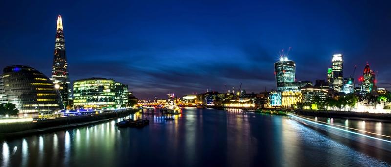Gece Şehir Manzarası Dünyaca Ünlü Şehirler Kanvas Tablo