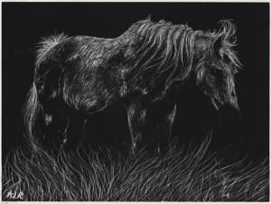 Gece ve At Yağlı Boya Sanat Kanvas Tablo