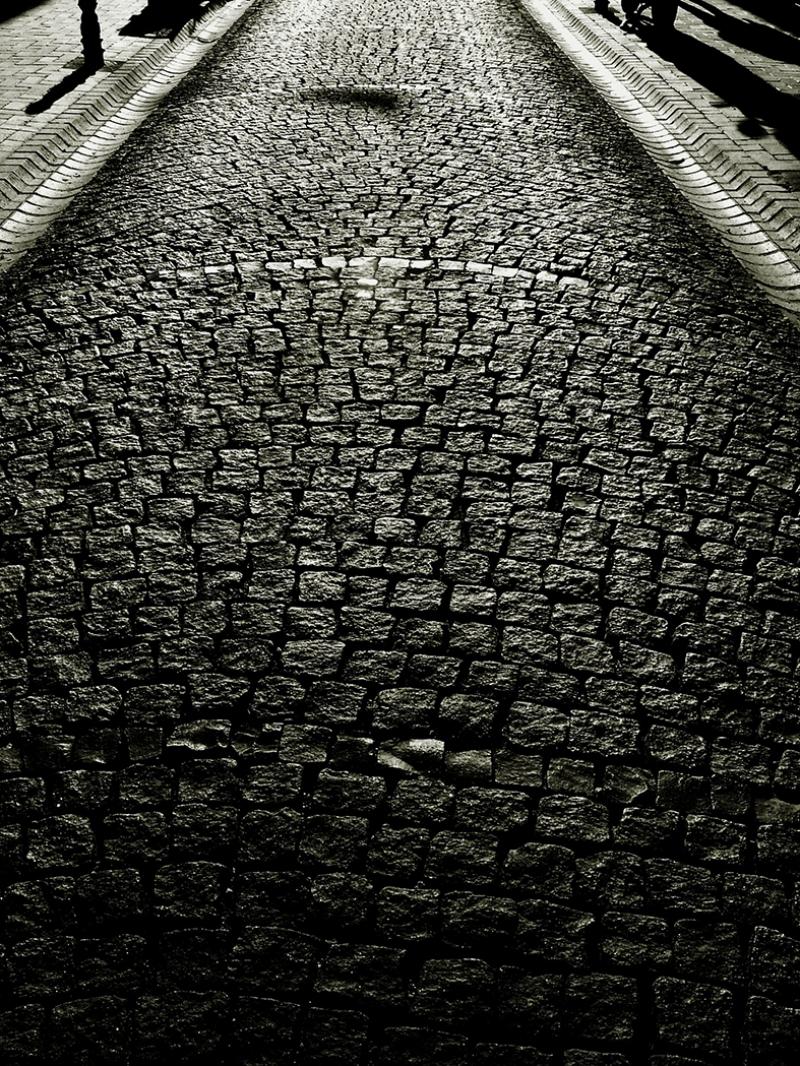 Gece ve Kaldırım Fotoğraf Kanvas Tablo