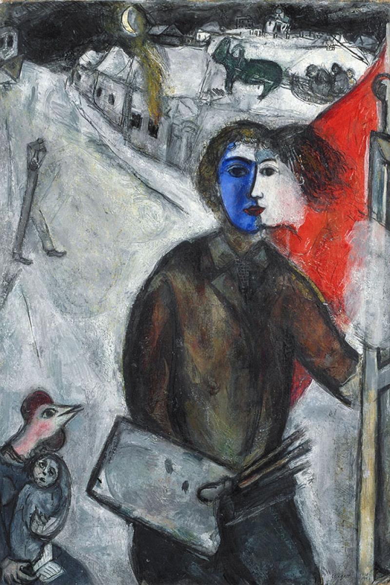 Gece Ve Karanlıklar Arasında Marc Chagall Between Darkness And Night Klasik Sanat Kanvas Tablo