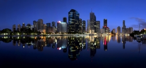 Gece ve Şehir Panaroma Panaromik Manzara Kanvas Tablo