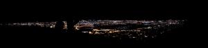 Gece ve Şehir Panaromik Kanvas Tablo