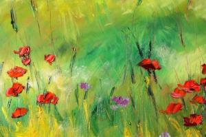 Gelincik 15 Çiçekler Yağlı Boya Floral Sanat Kanvas Tablo