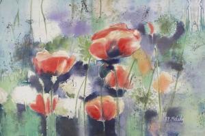 Gelincik 16 Çiçekler Yağlı Boya Floral Sanat Kanvas Tablo