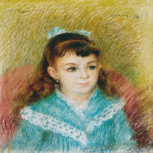 Genç Kız Elisabet'in Portresi, Pierre August Renoir Portrait Of A Young Girl Elizabeth 1879 Klasik Sanat Kanvas Tablo