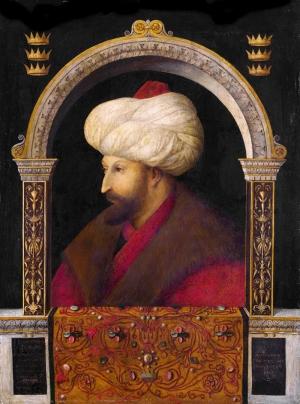 Gentile Bellini Fatih Sultan Mehmet Portre Osmanlı Tarihi Kanvas Tablo