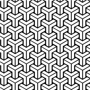 Geometrik Desen Dijital ve Fantastik Kanvas Tablo