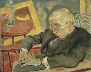 George Grosz Sair Herrmann Neisse Soyut Yağlı Boya Klasik Sanat Canvas Tablo