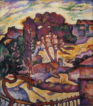 Georges Braque Geniş Ağaçlar Soyut Yağlı Boya Klasik Sanat Kanvas Tablo