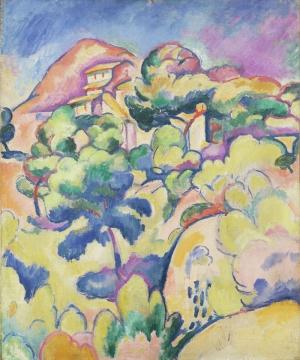 Georges Braque La Ciotat Manzara Soyut Yağlı Boya Klasik Sanat Kanvas Tablo