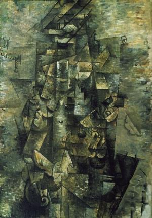 Georges Braquegitarli Adam Soyut Yağlı Boya Klasik Sanat Canvas Tablo
