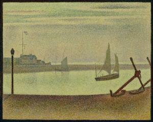 Georges Pierre Seurat Kanal Soyut Yağlı Boya Klasik Sanat Canvas Tablo