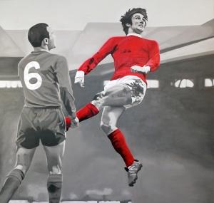 Georgie Best İngiliz Yıldız Futbolcu Kanvas Tablo