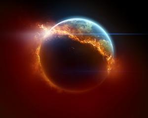 Gerçek Dünya & Uzay Kanvas Tablo