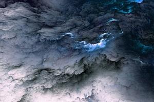 Gerçekdışı Bulutlar 2 Dijital ve Fantastik Kanvas Tablo