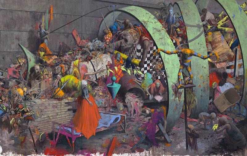 Gerçeküstü Kompozisyon Yağlı Boya Sanat Kanvas Tablo