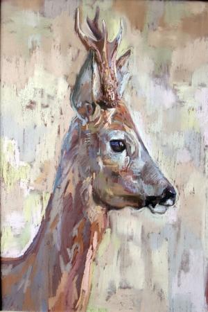 Geyik-17 Hayvanlar Modern Sanat Kanvas Tablo