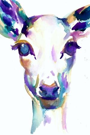 Geyik-18 Hayvanlar Modern Sanat Kanvas Tablo