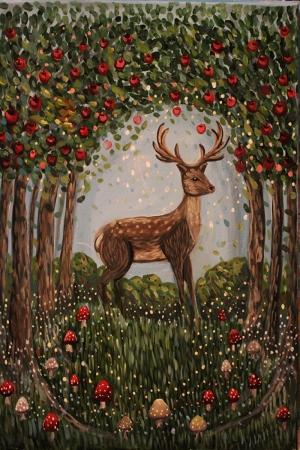 Geyik-30 Hayvanlar Modern Sanat Kanvas Tablo