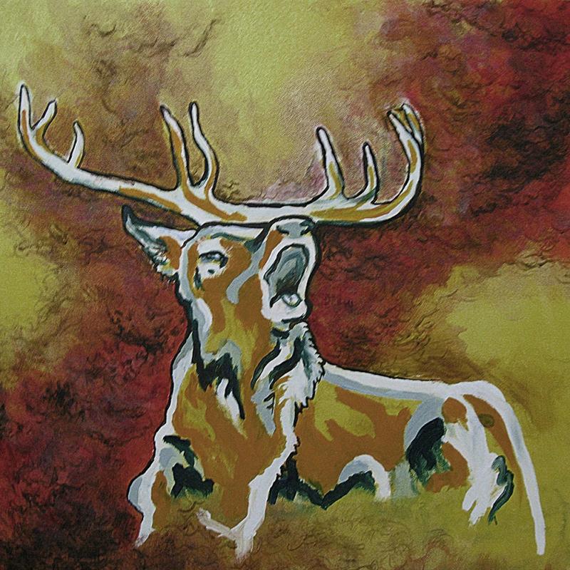 Geyik-306 Hayvanlar Modern Sanat Kanvas Tablo