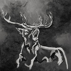Geyik-307 Hayvanlar Modern Sanat Kanvas Tablo