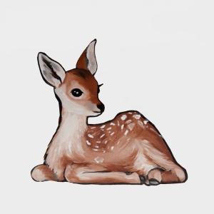 Geyik-4 Yavru Ceylan Hayvanlar Modern Sanat Kanvas Tablo